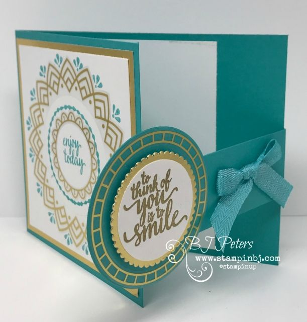 Check Out the Creative Inking Blog Hop Linda Bauwin Your CARD-iologist Helping you create cards from the heart. Stampin' Up! Eastern Palace Special Fold
