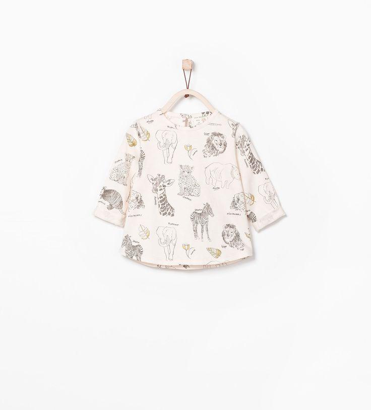 SHINY ANIMALS T - SHIRT - T - shirts - Baby girl (3 months - 3 years) - KIDS | ZARA United States