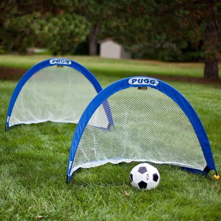 Pop-up soccer goals - play in the backyard, beach, or park.