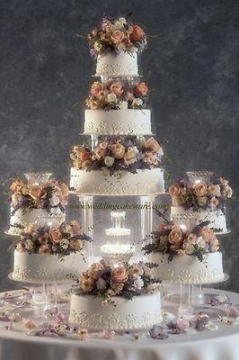 8 Tier Cascade Fountain Wedding Cake Stand Stands Set | eBay