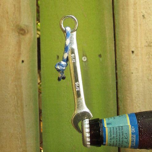 DIY Idea: Make a Wrench Bottle Opener | Man Made DIY | Crafts for Men | Keywords: bottle, beer, wrench, tool