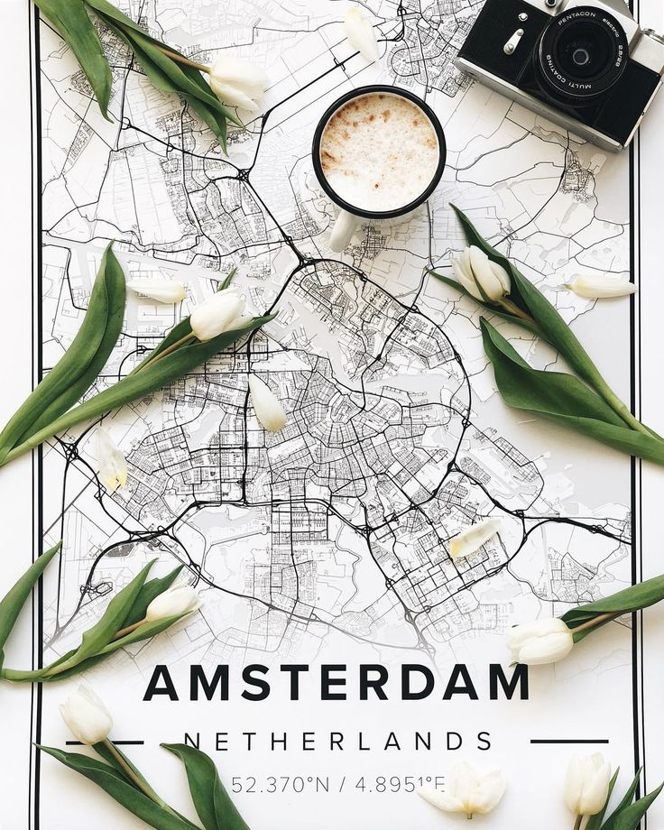 Map poster of Amsterdam, Netherlands. Print size 50 x 70 cm available at Mapiful.com   Easter decoration, flowers!