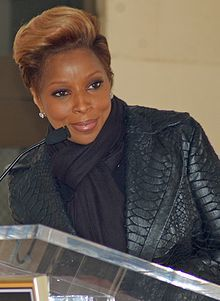 Mary J. Blige, is an American singer-songwriter, record producer, and occasional rapper and actress. She is a recipient of nine Grammy Awards and four American Music Awards, and has recorded eight multi-platinum albums. She is the only artist with Grammy Award wins in R+B, Rap, Gospel, and Pop.