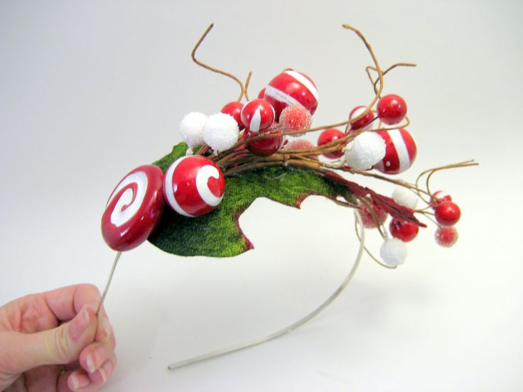 Whoville Inspired Peppermint Mistletoe Candy Headband  - Elf - Christmas holiday party - Whimsical - Wonka
