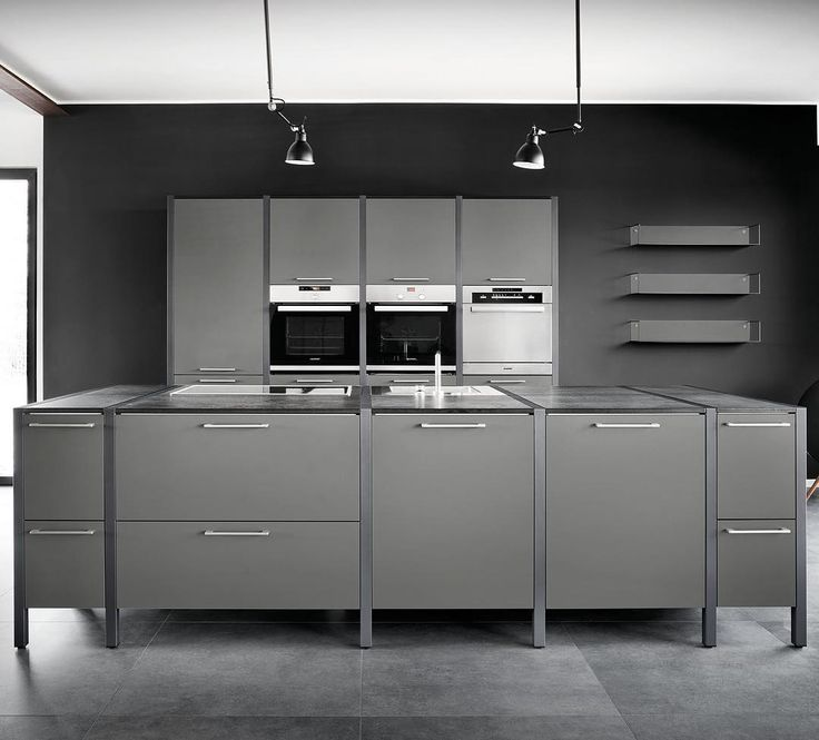 Fancy F r K chenchefs unsere K che in Lavagrau kitchen furniture showroom madeingermany