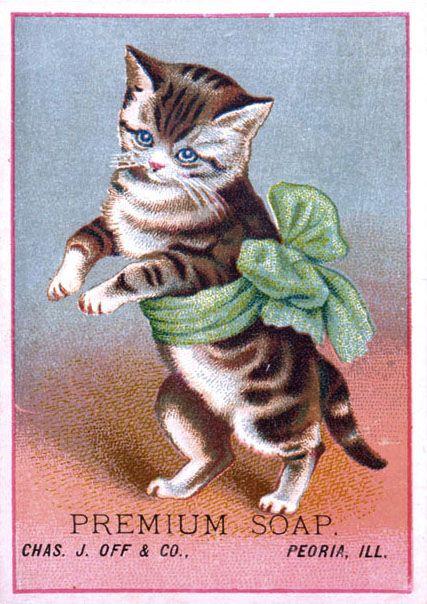 Premium Soap vintage advertising card