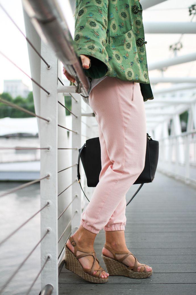 Vintage jacket, Zara pants, New Look wedges, Michael Kors bag - It's A