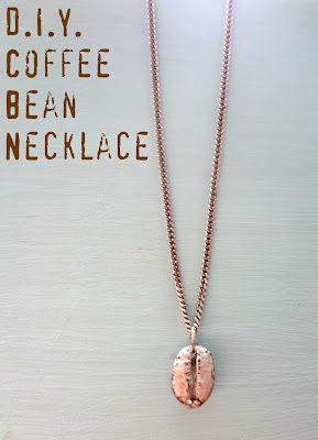 DIY coffee bean necklace