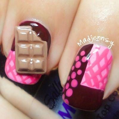 Nail Art Delicioso chocolate 3D Nail Art Vídeotutorial