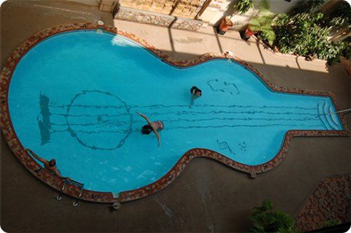 Amazing swimming pools: Swimming Pools, Idea, Guitar Shaped, Amazing Pools, Swimming Pool Designs