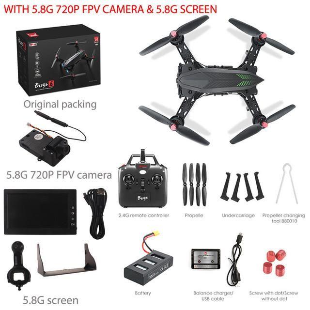 MJX Bugs 6 B6 RC Pro RTF Racing Drone w\ camera 5.8G 720P real-time image 50KM/H High Speed