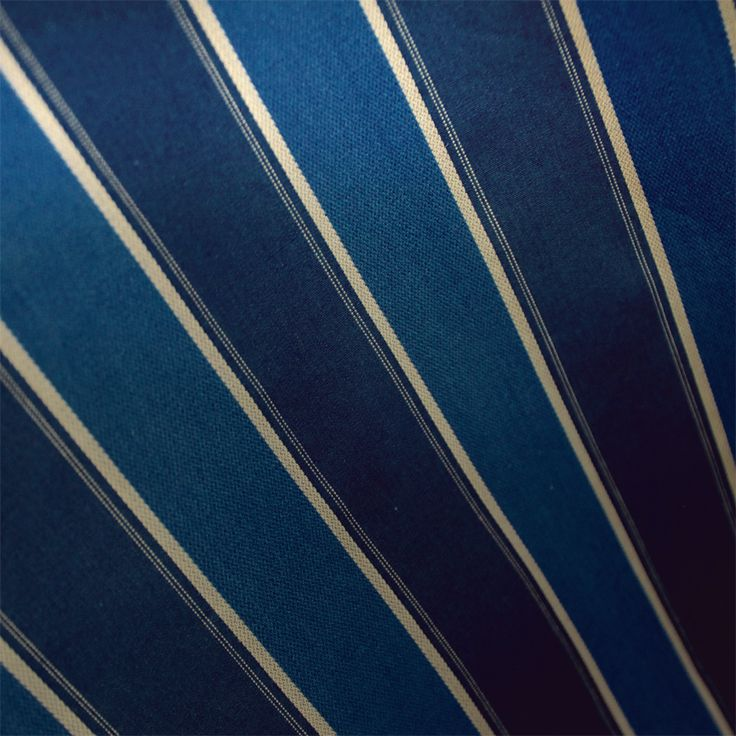 Contare Navy and Royal Blue Satin Stripe Weave