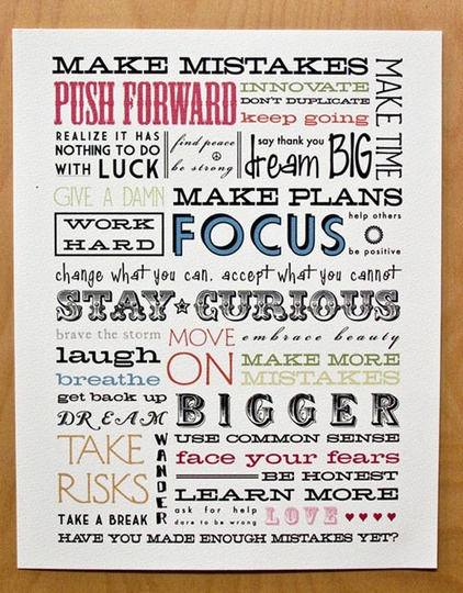wise words poster (site has several ideas-- I would like a compilation of several)