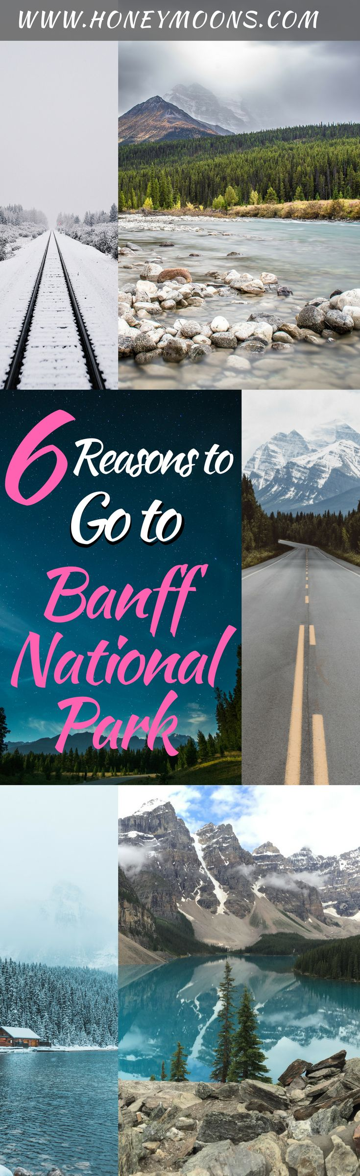 One of our favorite stops in Canada is Banff National Park, offering crystal blue waters, dramatic mountains, and a romantic resort town. Check out what we did in Banff and why you should go! | PIN FOR LATER | #BANFF #CANADA #BANFFNATIONALPARK #HONEYMOON