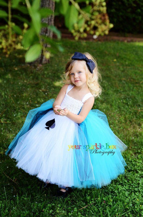 Alice in Wonderland Costume Tutu Dress by YourSparkleBox on Etsy,