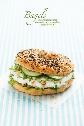 Bagels d'été {Summer bagels} #bagel #recipe