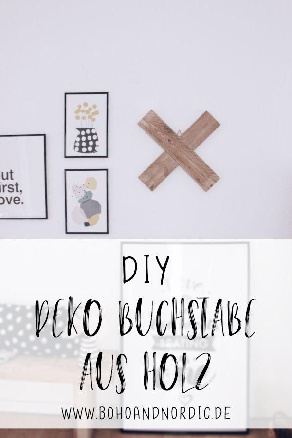 DIY Deko aus Holz - X Buchstabe aus Holz selber machen Kreative