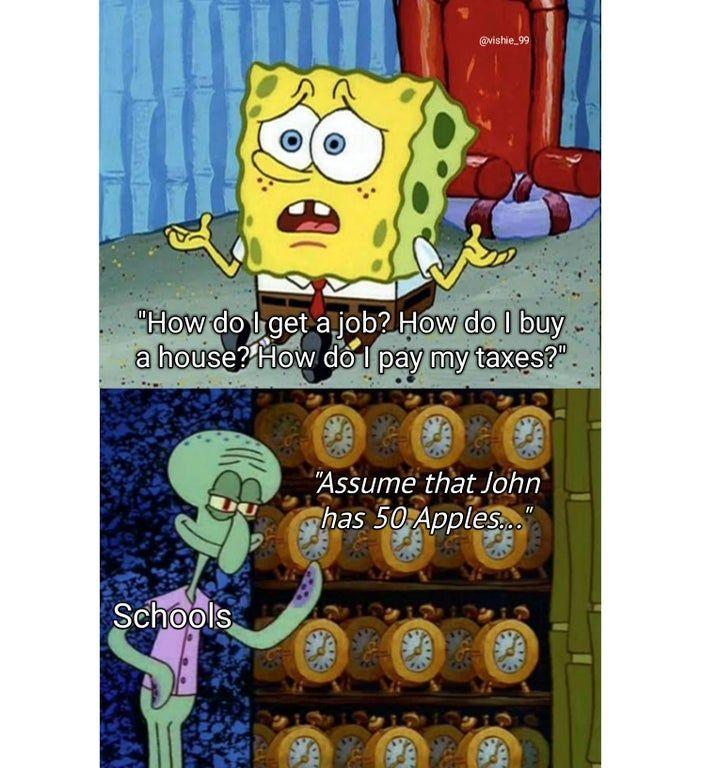 What He Gonna Do Memes In 2021 Spongebob Funny Funny School Memes Funny Spongebob Memes