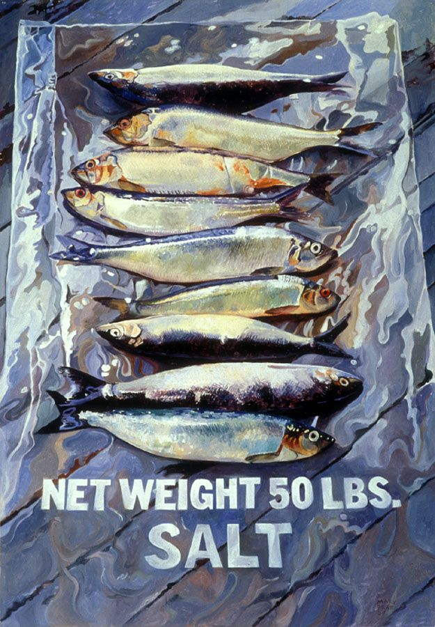 Herring on a Salt Bag - Mary Pratt