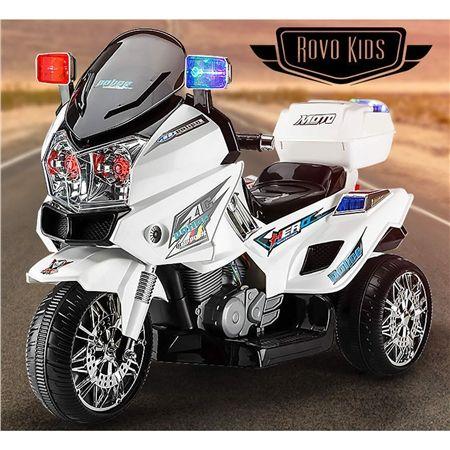 Rovo Kids Electric Ride-On Patrol Motorbike