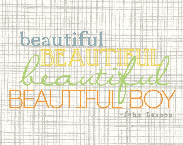 John Lennon Beautiful Boy Art Print by Scribble and Scribe on Etsy