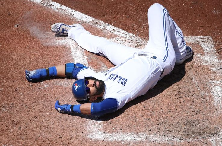 #Blue Jays Bautista's value in his presence - Didn't realize his slide looked like that! But it worked!
