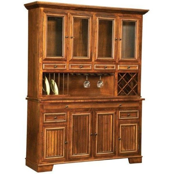 Amish Bradbury Hutch ($3,258) ❤ liked on Polyvore featuring home, furniture, storage & shelves, door furniture, handcrafted furniture, grey kitchen accessories, gray hutch and grey furniture