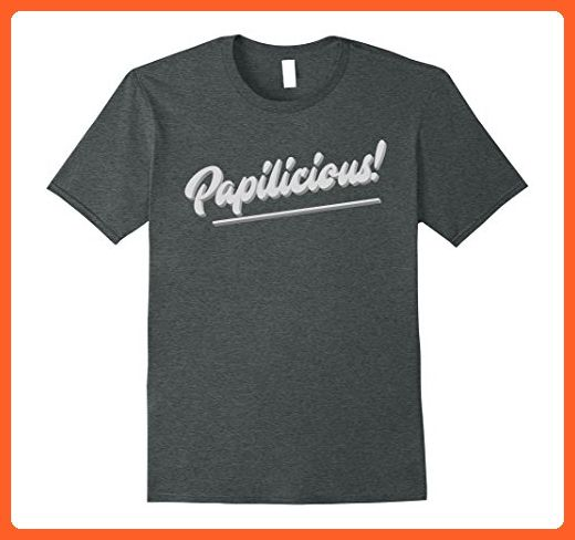 Mens Papilicious! Papi / Dad T-shirt XL Dark Heather - Relatives and family shirts (*Partner-Link)