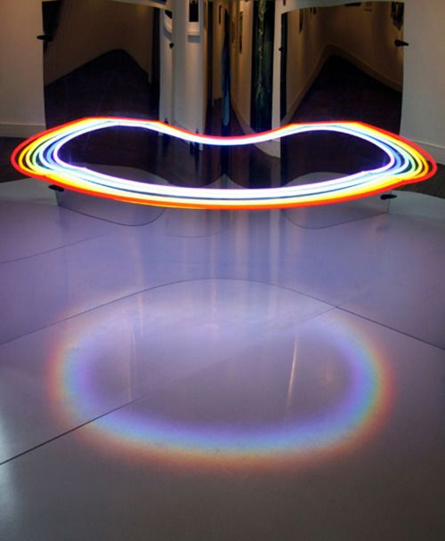 Steven Morgana's optical installation.