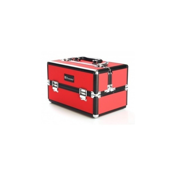 BH Cosmetics Makeup Train Case (Red) (1.210 RUB) found on Polyvore