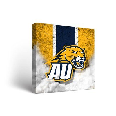"""Victory Tailgate NCAA Vintage Version Framed Graphic Art on Wrapped Canvas Size: 24"""" H x 24"""" W x 1.5"""" D, NCAA Team: Averett University Cougars"""