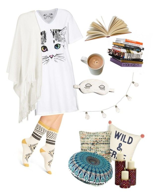 """""""Cosy night @ home"""" by gardenofroses on Polyvore featuring Free People, Levtex, Home Decorators Collection, Anna Sui, Boohoo and Morgan Lane"""