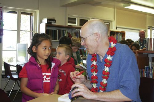 News article in the Hawaii Tribune Herald about my trip to Hawaii Prep Academy.