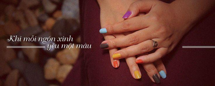 Khi mỗi ngón xinh yêu một màu! Nail.