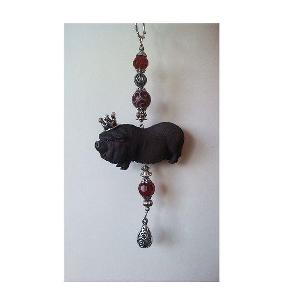 *LAZY RUDY* SCHRILLE HÄNGEBAUCHSCHWEIN BETTELKETTE von * Pomp & Jewels * auf DaWanda.com