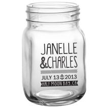 Custom mason jars for wedding favors, your merch table, or customer giveaways!