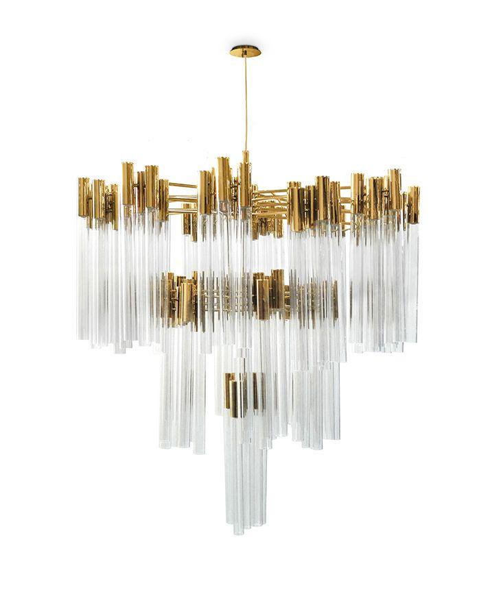 Burj Chandelier | Burj chandelier is inspired in one of the most stunning hotel in the world, the Burj Al Arab. #modernlamps #modernchandelier #luxurychandelier See more: http://www.luxxu.net/products/burj-chandelier.php