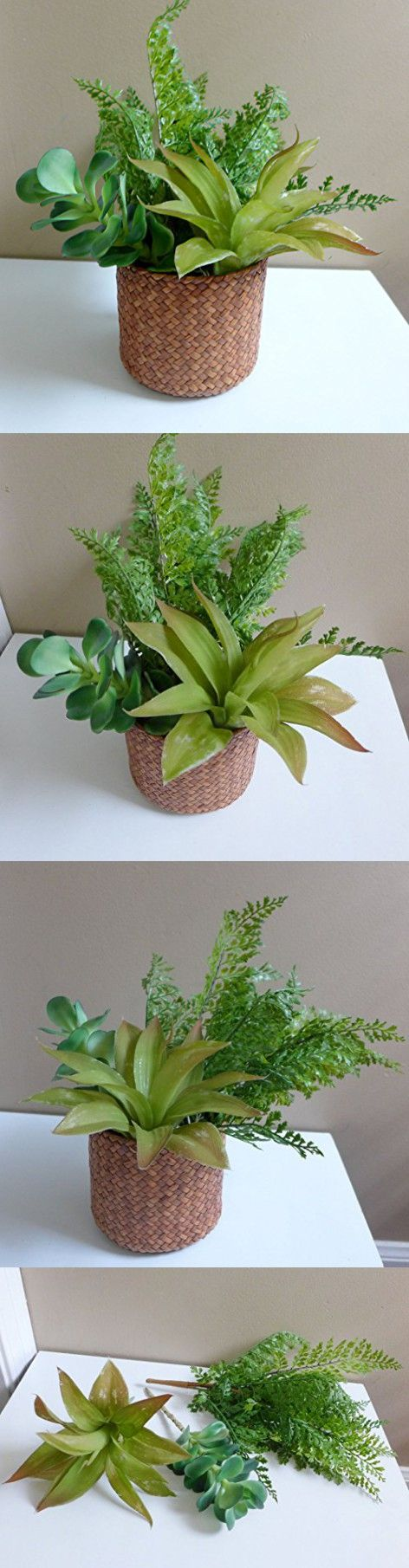 Artificial plants for kitchen - Artificial Plants Lifelike Mini Succulents Plastic Grass Kitchen Table Gift Coffee Shops Home Garden Wedding Craft