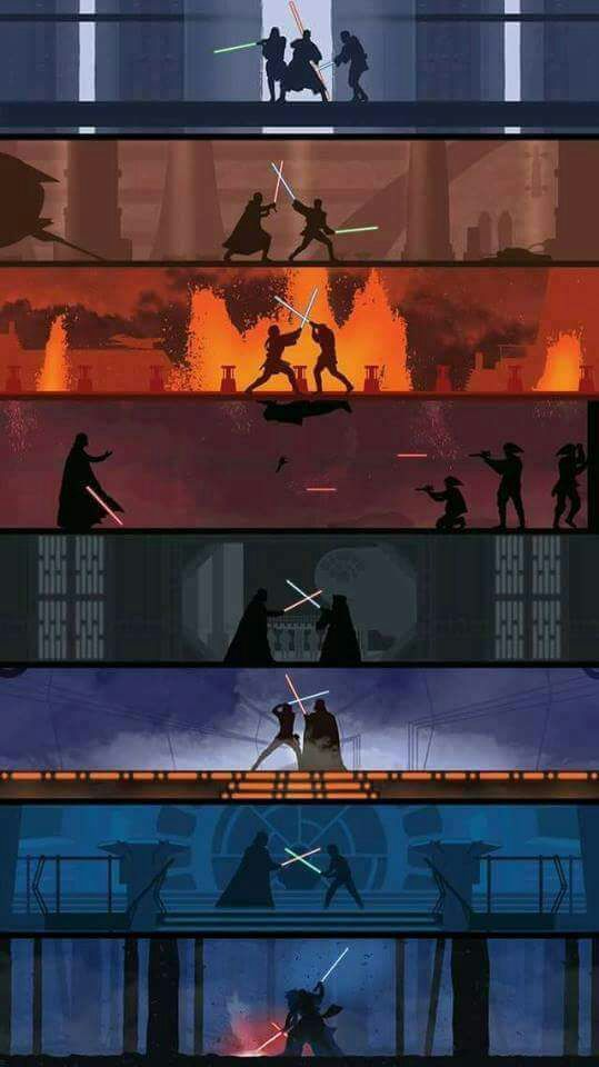 Duels through the ages. #StarWars