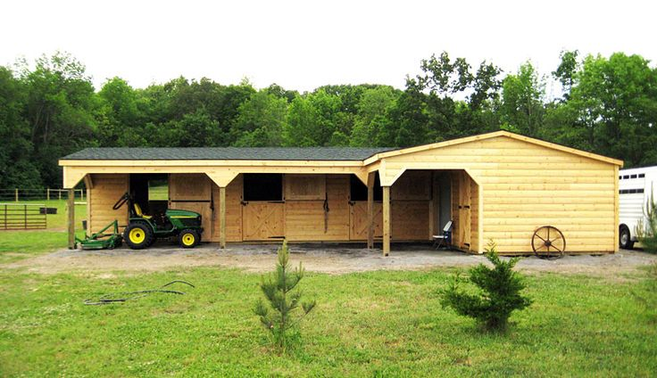 L shaped horse barn horse barns wood tex products for L shaped shed