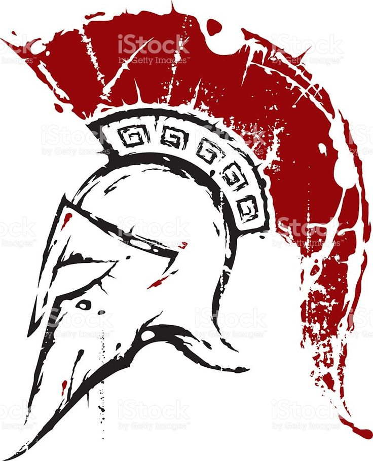 Spartan helmet royalty-free stock vector art