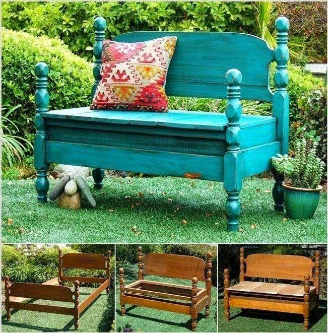 les 25 meilleures id es de la cat gorie bancs peints sur pinterest vieux bancs t te de lit. Black Bedroom Furniture Sets. Home Design Ideas