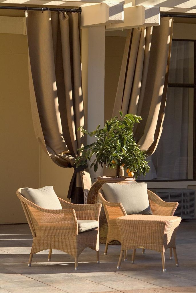 25 best ideas about Outdoor drapes on Pinterest