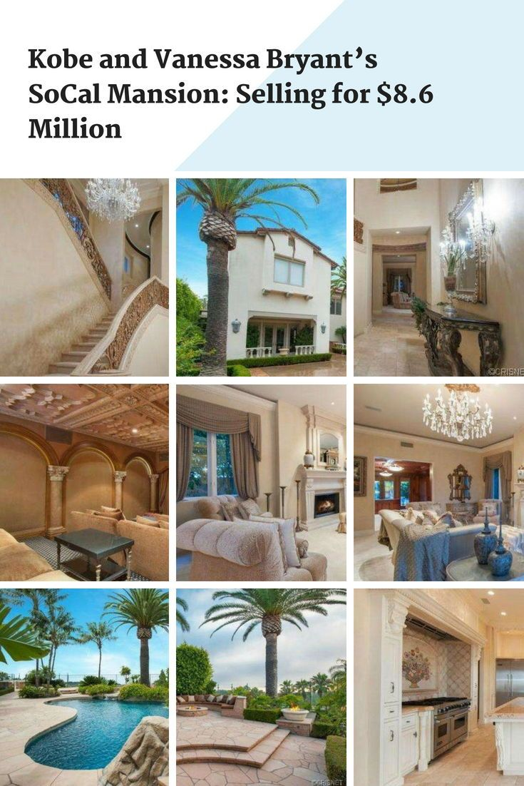 Kobe And Vanessa Bryant S Socal Mansion Selling For 8 6