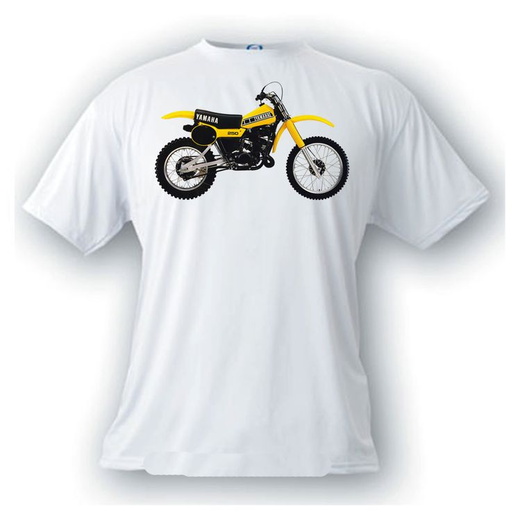 yamaha YZ250 vintage image t-shirt motocross motorcycle by artonstuffdesigns on Etsy