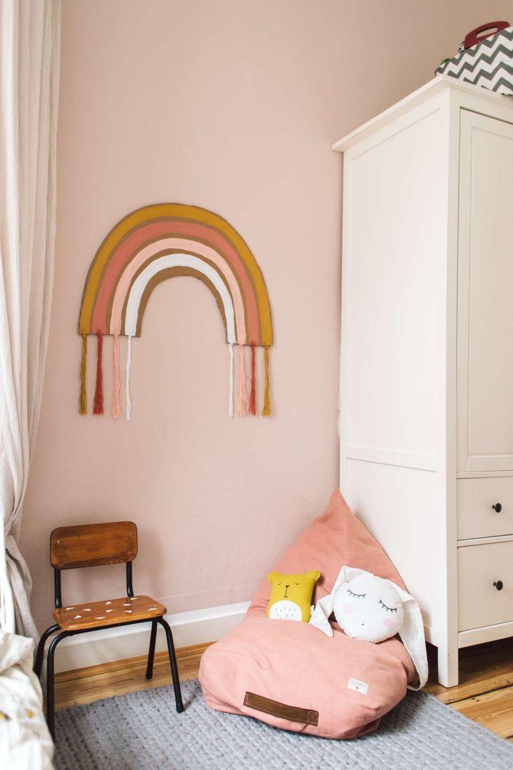 Diy Regenbogen Wanddeko Wanddeko Kinderzimmer Kinderzimmer Selber Machen Kinder Zimmer Deko