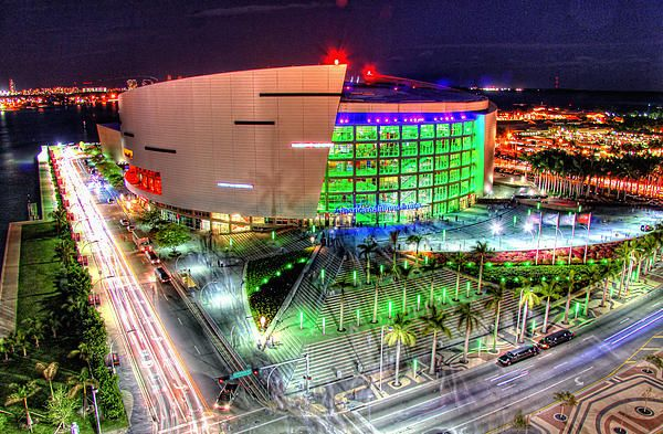 American Airlines Arena- #AAA, #Miami, #HDR, #nighttime, If you would like to buy a print, follow the link for Fine Art America.