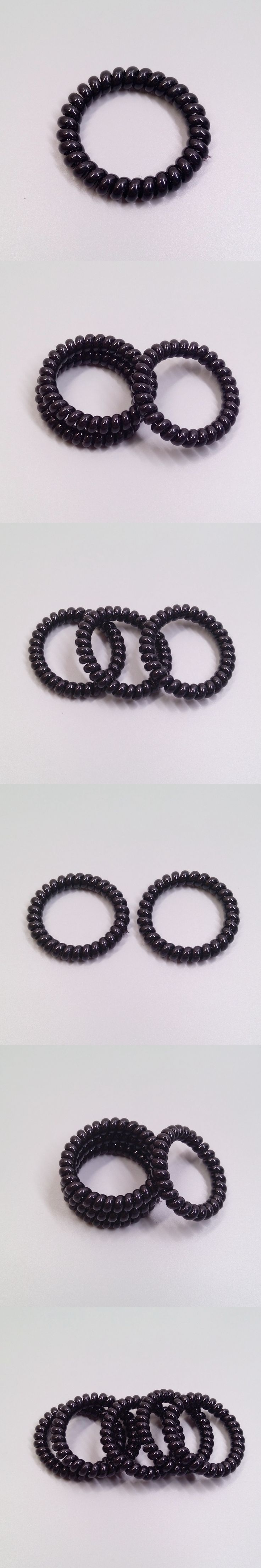 Telephone Lines,Hair Gum  , Hair Accessories, Hair Bands For Women Ring Rope, Elastic Rubber Black Color without trace,rhombus ,