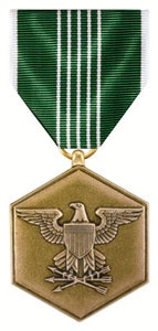 The Army Commendation Medal is awarded to any member, other than General Officers, of the Armed Forces that distinguishes himself or herself by heroism, meritorious achievement or meritorious service which are of a lesser degree than that required for the Bronze Star Medal. The act justifying the award may entail aerial flight, and it may be made for made for noncombatant-related acts of heroism which do not meet the requirements for an award of the Soldier's Medal.