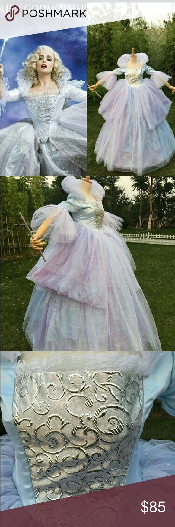 Fairy Godmother Costume GORGEOUS fairy godmother costume. Worn only a few times.  Size medium.  Fits true to size. Dresses